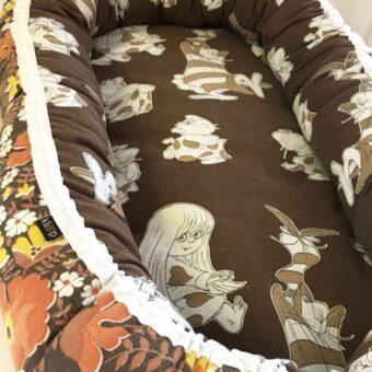 Babynest Retro retrotyg Vintage Vintagetyg Återbruk Eko Miljövänligt Barnbädd Dunderklumpen