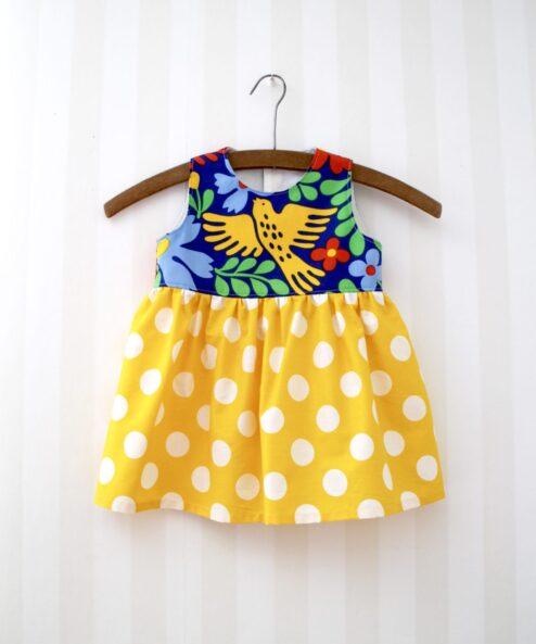 Klänning Retro Barnklänning Återbruk Miljövänligt Retrotyg Vintage Vintagetyg Wanja Djanaieff