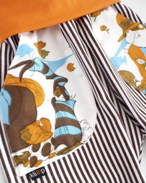 Muddbyxa Byxor Barnbyxor Barnkläder Dunderklumpen Retro retrotyg Vintage Vintagetyg Återbruk