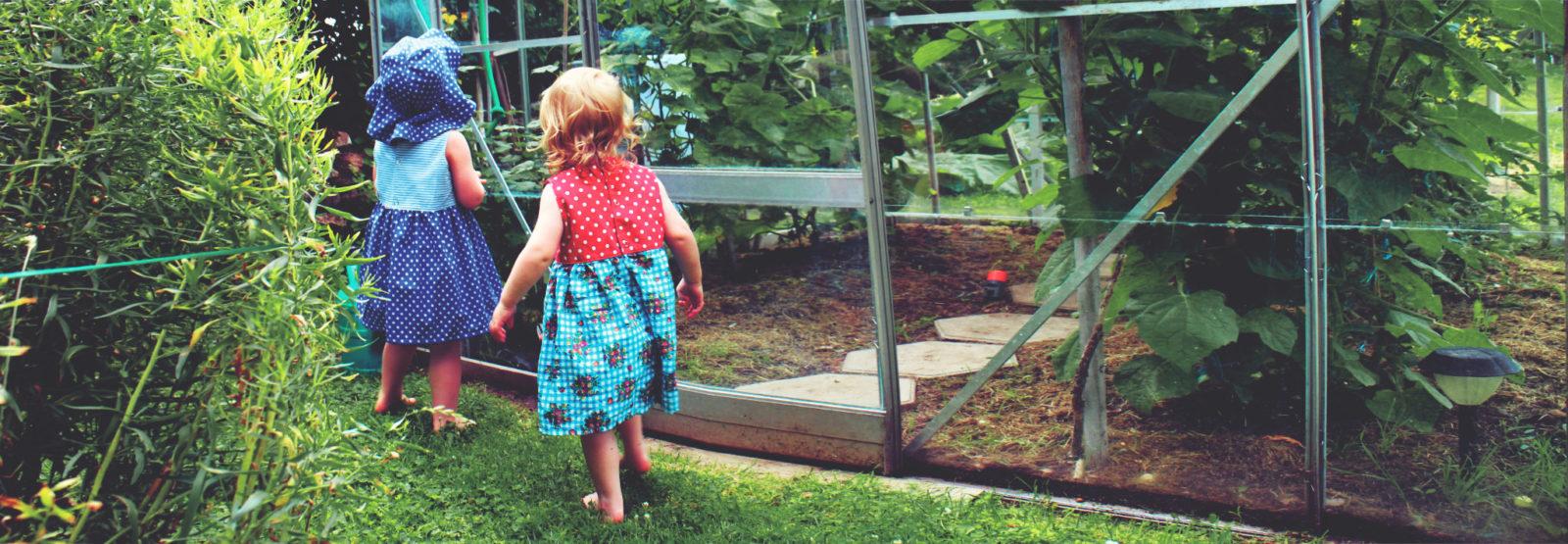 Barnklänningar i retrotyg från Klimp Design