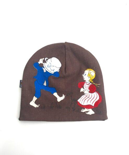 Mössa Barnmössa Återbruk Miljövänlig Retro retrotyg Vintage Vintagetyg Emil i Lönneberga Björn Berg Astrid Lindgren Återbruk
