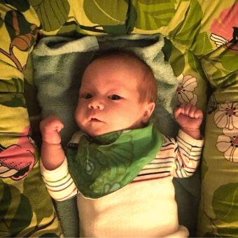 Babynest mönster retro